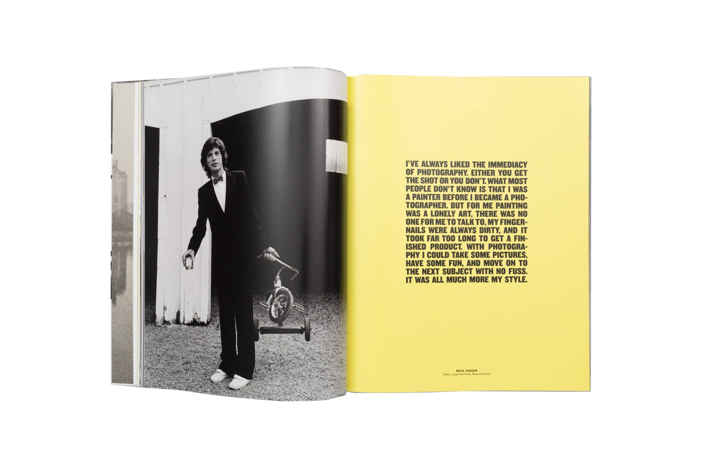 Arthur Elgort - The Big Picture - Inner page - Mick Jagger